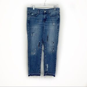 Zara Super Distressed Boyfriend Jeans Size 8